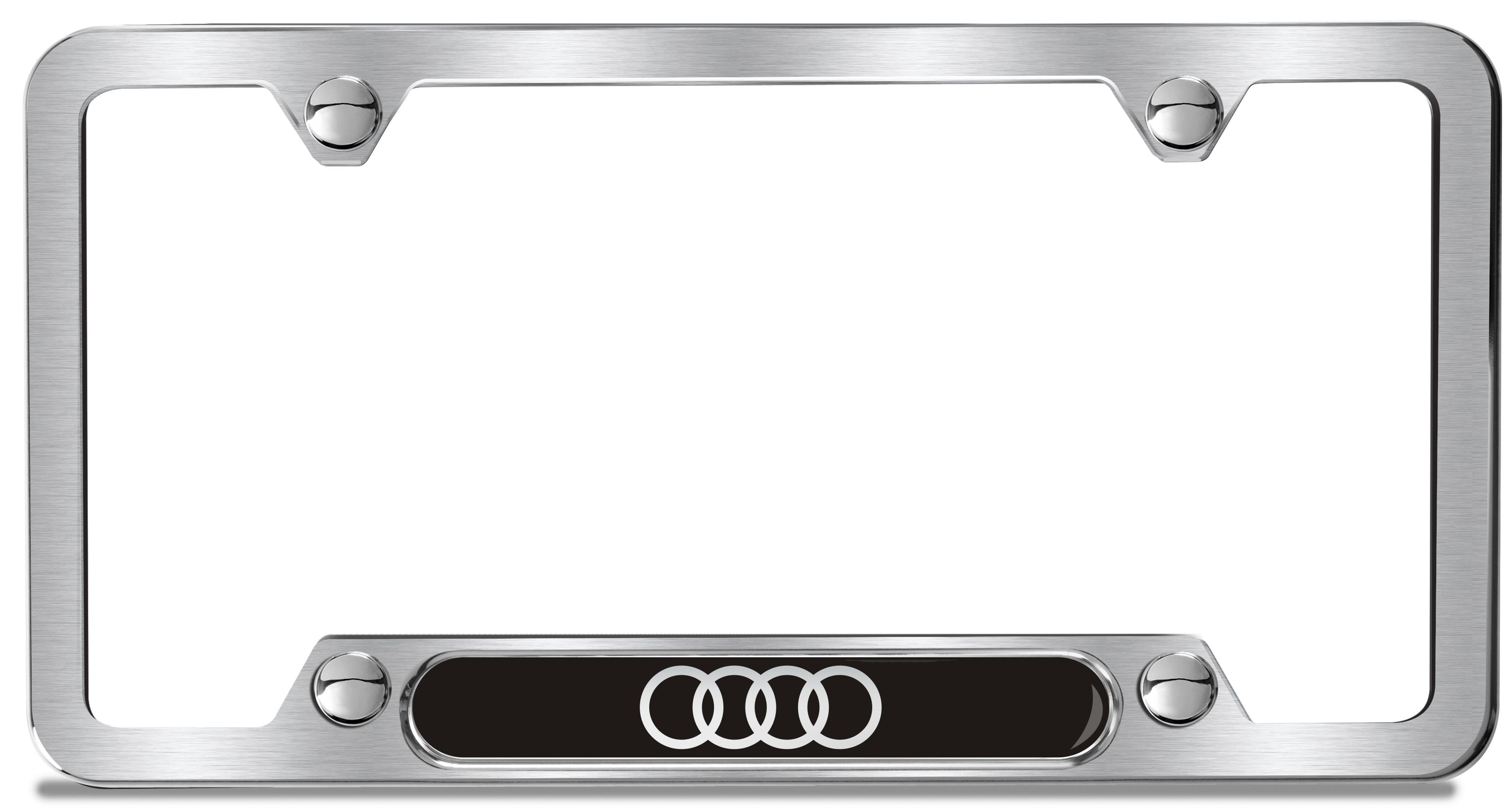2017 Audi Q7 Audi Rings License Plate Frame Brushed